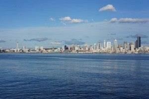 Hoping for sunnier skies - like these - on my next visit to Seattle (photo by Melanie Wynne)