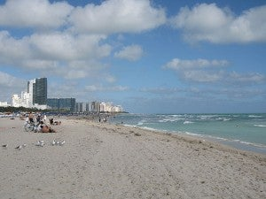 Miami Beach is just one bock away from the Blue Moon Hotel
