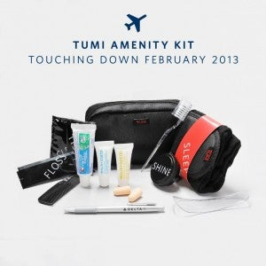 Delta's new BusinessElite amenity kit from Tumi and Malin + Goetz