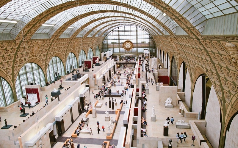 The Musee D'Orsay, an former train station turned museum, a can't miss!