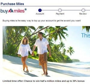 Up to 30% bonus when you purchase AA miles