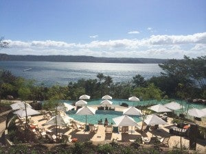 The Andaz Papagayo lowers to a Category 4.
