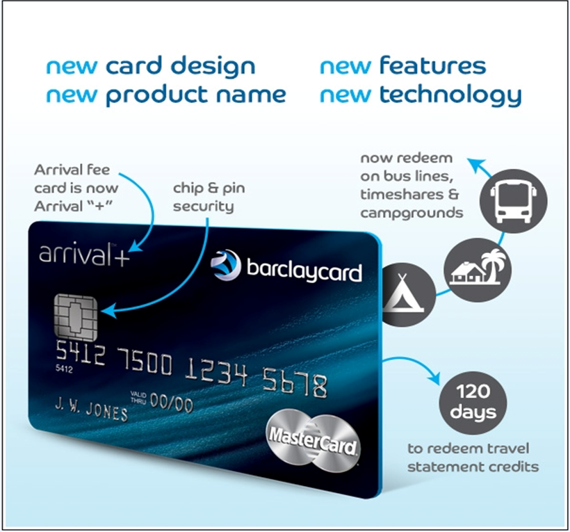 Arrival Plus offers added benefits, including Chip and PIN technology.