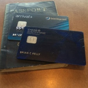 My Chase Sapphire Preferred and Barclaycard Arrival Plus are my key cards- especially when traveling abroad