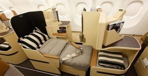 Etihad's present business class seat, called Business Pearl