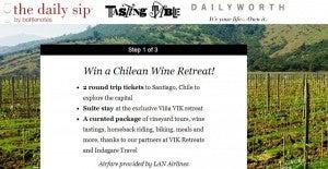 Win a Chilean wine retreat.