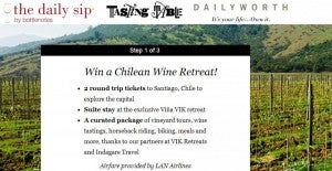 Win a Chilean wine retreat.