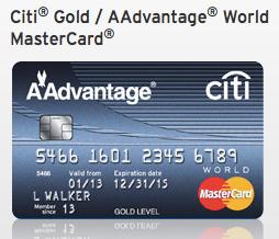 Citi Gold MasterCard