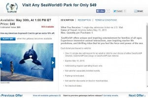 Discounted passes to Sea World or Busch Gardens