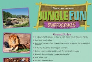 Enter the Jungle Fun Sweepstakes