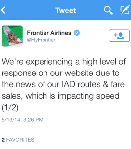 Tech fail.. did they not think $15 fares would be popular?