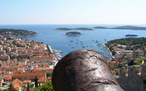 A view of Hvar from the Fortress.