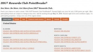 You could use these purchased points for a hotel on the PointBreaks list
