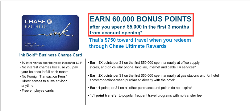 60,000 points is 10,000 higher than the normal bonus.