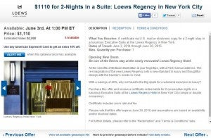 Loews Hotel packages