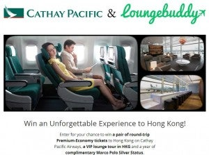 Win a trip to Hong Kong from LoungeBuddy.