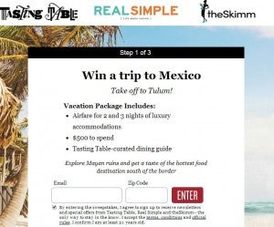 Win a trip to Mexico