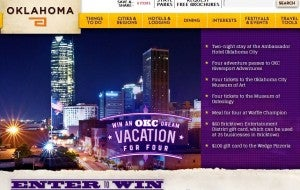 Win a trip for four to Oklahoma.