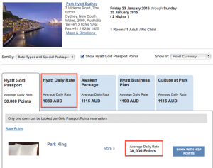 30,000 points a night saves almost $1,000 a day