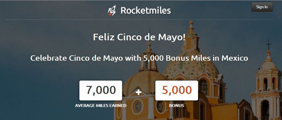 Book a 3+ night stay in Mexico on Rocketmiles and get 5,000 bonus points