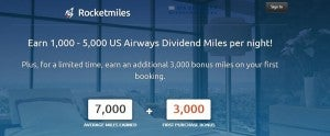 Get 3000 US Airways Dividend miles with booking