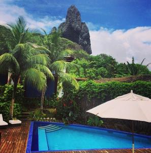 The pool at Fernando de Noronha's Ecopousada Teju Açu