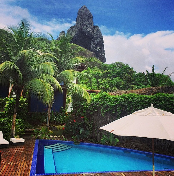 The pool at Fernando de Noronha's Ecopousada Teju Açu