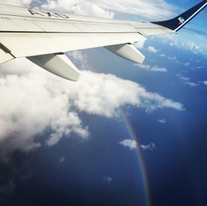 My quick Azul Airlines flight to Brazil's Fernando de Noronha came with a rainbow