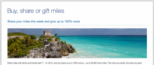 US Airways 100% Share Miles bonus is a great deal, enabling you to buy miles at 1.1. cents apiece