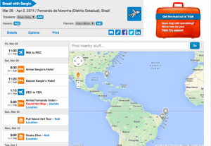 My Brazil trip mapped out.