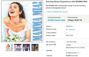 Mamma Mia! package via Mileage Plus
