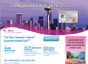 Barclaycard is offering a new Hawaiian Airlines business credit card.