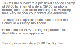 Notice about service and handling fees on my order