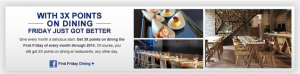 Reminder: 3x Points On Dining Today With Chase Sapphire Preferred First Friday