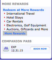 My companion pass is valid until December 31, 2015!