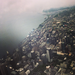 No, my First Class seat on Alaska wasn't amazing, but the view coming into Seattle sure was