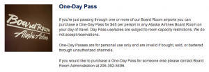 Anyone can purchase a $45 day pass to an Alaska Board Room lounge, but entrance is subject to capacity restrictions