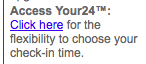 My room-reservation confirmation email included a link to my Your24 benefit