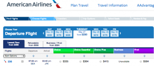 American has one daily SEA-JFK flight on its newly retrofitted 737-800