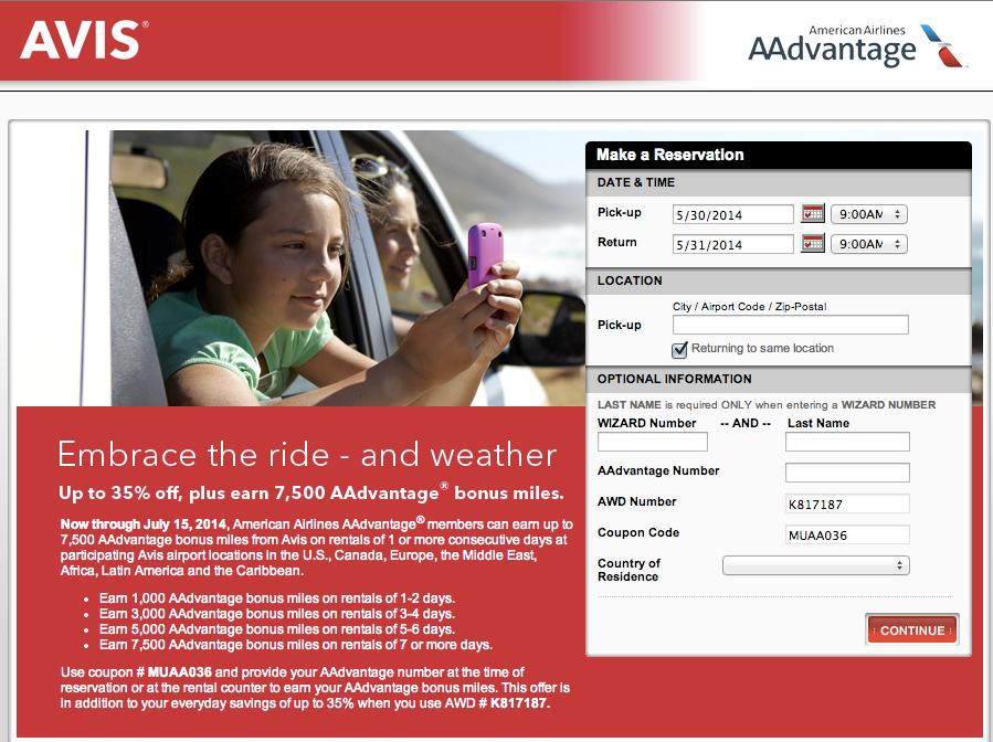 Keep an eye out for bonuses like the current Avis/AA one.