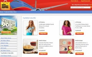 Southwest Rapid Rewards shopping portal.