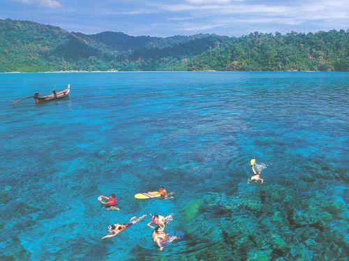 The Surin Islands in Thailand.