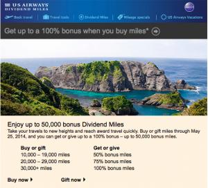 US Airways Bonus