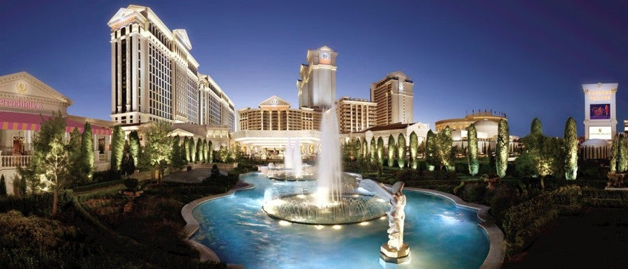 Get a discounted stay at Caesars Palace or Harrah's