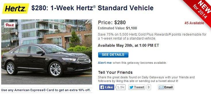 hertz offer