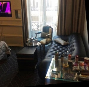 The furniture in my Fabulous Suite was both funky and chic