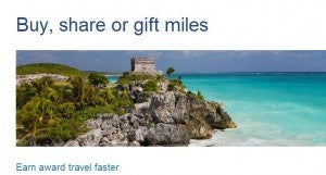 US Airways allows you to transfer or gift miles.