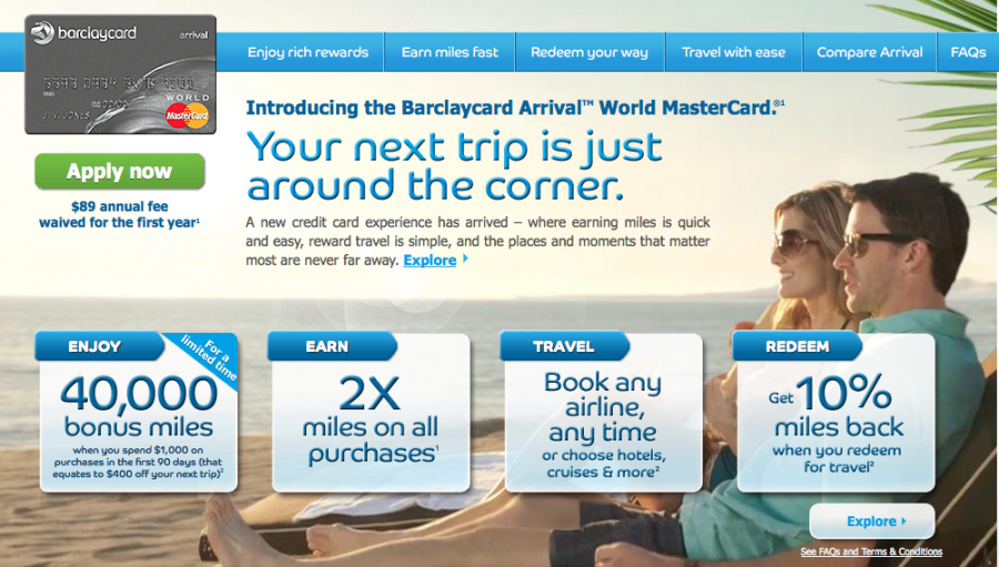 For travel, Barclaycard is the clear winner