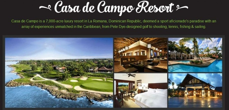 Win a trip to the Dominican Republic