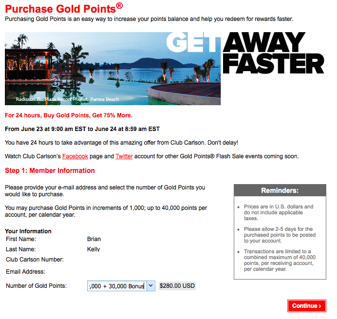 Another awesome sale- I already maxed out with 40,000 points purchased with a 30,000 point bonus for $280